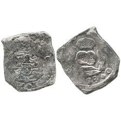 Guatemala, cob 8 reales, (1)738(J).