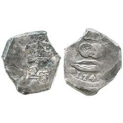 Guatemala, cob 8 reales, 1742(J).