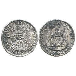 Mexico City, Mexico, pillar 4 reales, Philip V, 174/30MF.