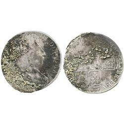 England (mint uncertain), 1/2 crown, William III, 1697.
