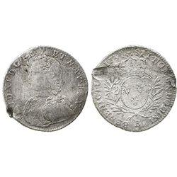 France (Rouen mint), 1/2 ecu, Louis XV, 1731-B.