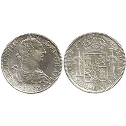 Mexico City, Mexico, bust 8 reales, Charles III, 1783FF.