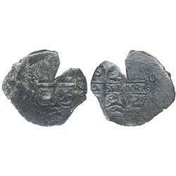 Potosi, Bolivia, cob 2 reales, 1661E, encapsulated NGC genuine, with name of wreck in slab.