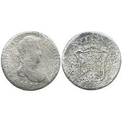 Cadiz, Spain, bust 8 reales, Ferdinand VII, 1813CJ.