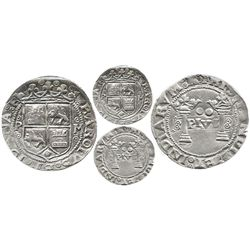 """Mexico City, Mexico, 2 reales, Charles-Joanna, """"Early Series,"""" assayer P to left, mintmark M to righ"""