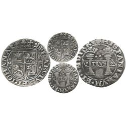 """Mexico City, Mexico, 2 reales, Charles-Joanna, """"Early Series,"""" assayer F to right, mintmark M to lef"""