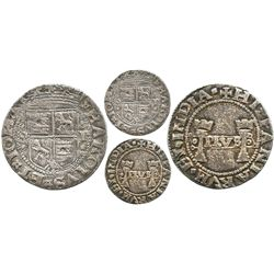 """Mexico City, Mexico, 1 real, Charles-Joanna, """"Early Series,"""" assayer P to right, mintmark M to left,"""