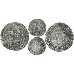 """Mexico City, Mexico, 4 reales, Charles-Joanna, """"Late Series,"""" assayer R to left, mintmark M to right"""