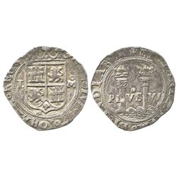 """Mexico City, Mexico, 1 real, Charles-Joanna, """"Late Series,"""" assayer L to left, mintmark oM to right."""
