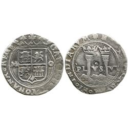 """Mexico City, Mexico, 1 real, Charles-Joanna, """"Late Series,"""" assayer O to right, mintmark M to left,"""
