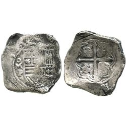 Mexico City, Mexico, cob 8 reales, (16)50P, with test-cuts as from circulation in the Orient.