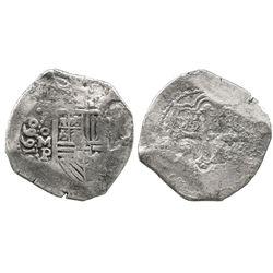 Mexico City, Mexico, cob 8 reales, 1660P.