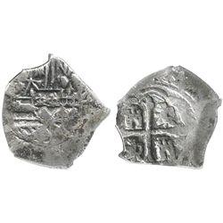 Mexico City, Mexico, cob 4 reales, Philip V, assayer not visible, encapsulated NGC VF 35.