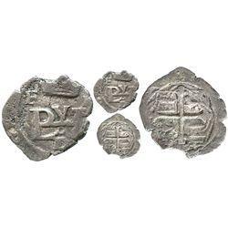 Mexico City, Mexico, cob 1/2 real, Philip III, assayer F at upper left, assayer oD below monogram, r