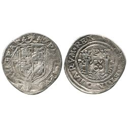 Lima, Peru, 2 reales, Philip II, assayer R (Rincon), motto as PL-VSV-L, obverse legend ending in HIS