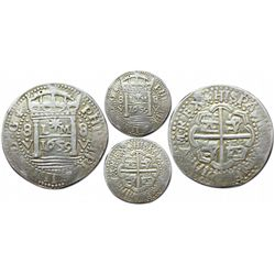 """Lima, Peru, cob 8 reales Royal, 1659V, """"Star of Lima"""" type, extremely rare (3 known)."""