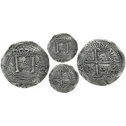 "Lima, Peru, cob 8 reales presentation strike, 1659V, ""Star of Lima"" type, very rare (about 4 known)."