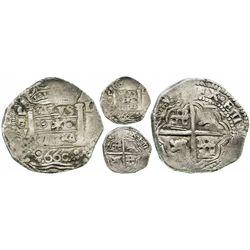 """Lima, Peru, cob 8 reales, 1660V, """"Star of Lima"""" Very Rare ex-Sellschopp"""
