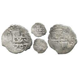 Lima, Peru, cob 1/2 real, 1707.