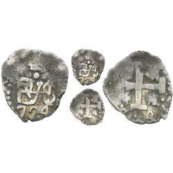 Lima, Peru, cob 1/2 real, 1724.