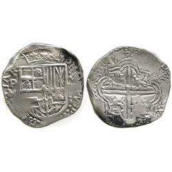 Potosi, Bolivia, cob 8 reales, 1617M, first date on Potosi cobs.