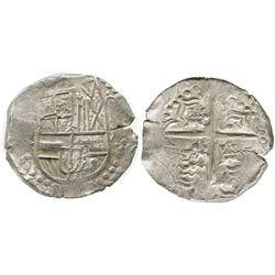 Potosi, Bolivia, cob 8 reales, (16)27T, ex-Panama hoard, rare.