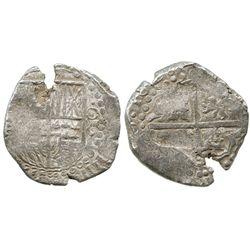 Potosi, Bolivia, cob 8 reales, 1628P, ex-Panama hoard.