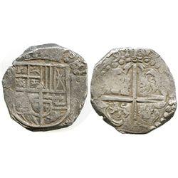 Potosi, Bolivia, cob 8 reales, (16)29(T), heavy-dot borders, denomination oVIII, ex-Panama hoard.