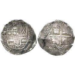 Potosi, Bolivia, cob 8 reales, 164(?)Z/?, rare.