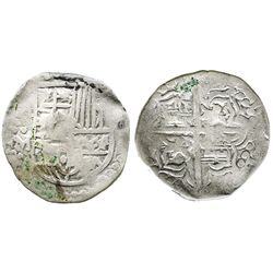 Potosi, Bolivia, cob 4 reales, Philip IIII, assayer M.