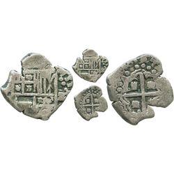 "Potosi, Bolivia, cob 1 real, 1646, assayer not visible, error denomination ""z,"" very rare."