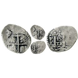 Potosi, Bolivia, cob 1/2 real, (1652E) transitional, McLean Type IIb.