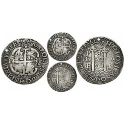 Potosi, Bolivia, cob 8 reales Royal, 1669E.
