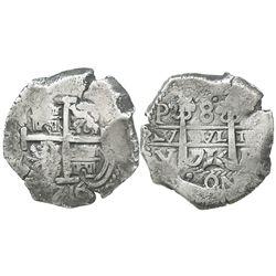Potosi, Bolivia, cob 8 reales, 1716Y.