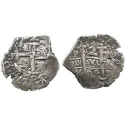 Potosi, Bolivia, cob 2 reales, 1704Y.