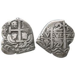 Potosi, Bolivia, cob 2 reales, 1729M, ex-Christensen.