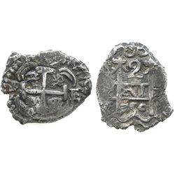 Potosi, Bolivia, cob 2 reales, 1750E.