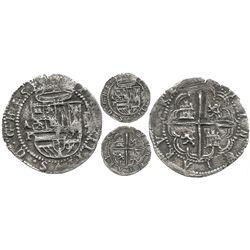 Panama, cob 1 real, Philip II, assayer oX, Proctor Plate Coin, very rare.