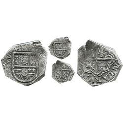 Cartagena, Colombia, cob 2 reales, Philip III (posthumous), no assayer, mintmark SF to left (1622),