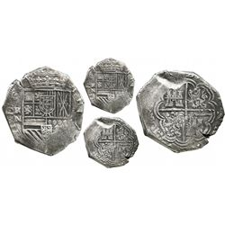 Cartagena, Colombia, cob 8 reales, (16)22A, assayer A to right, mintmark RN to left, pomegranate in