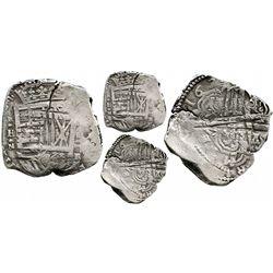Cartagena, Colombia, cob 8 reales, Philip IV, assayer E, small mintmark RN below denomination to rig