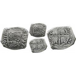 Cartagena, Colombia, cob 8 reales, 16(3?)E, C-E to right, rare, from the Concepcion (1641), with Las