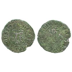 Seville, Spain (special issue struck for the Americas), copper 1 maravedi, Ferdinand-Isabel, very ra