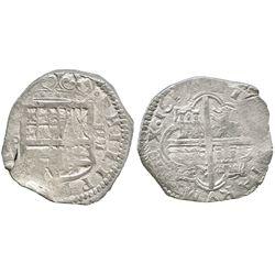 Toledo, Spain, cob 4 reales, 1619P.