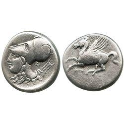 Akarnania, Anaktorion, AR stater, pegasus, ca. 350-300 BC.