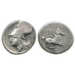 Akarnania, Leukas, AR stater, pegasus, ca. 320-280 BC.