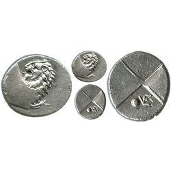 Thrace, Cherronesos, AR hemidrachm, 400-350 BC.