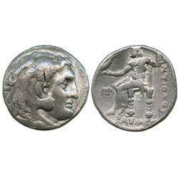 Seleukid Kingdom, AR tetradrachm, Antiochos I Soter as co-regent with Seleukos I, 294-281 BC.