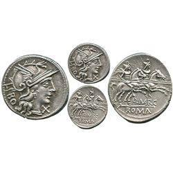 Roman Republic, AR denarius, Q. Marcius Libo, 148 BC, Rome mint.