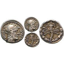 Roman Republic, AR denarius, Q. Fabius Maximus, 127 BC, Rome mint.